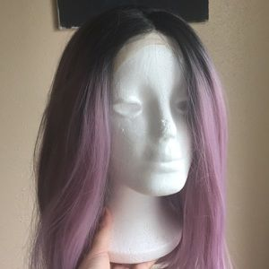 Pink/purple lace front wig